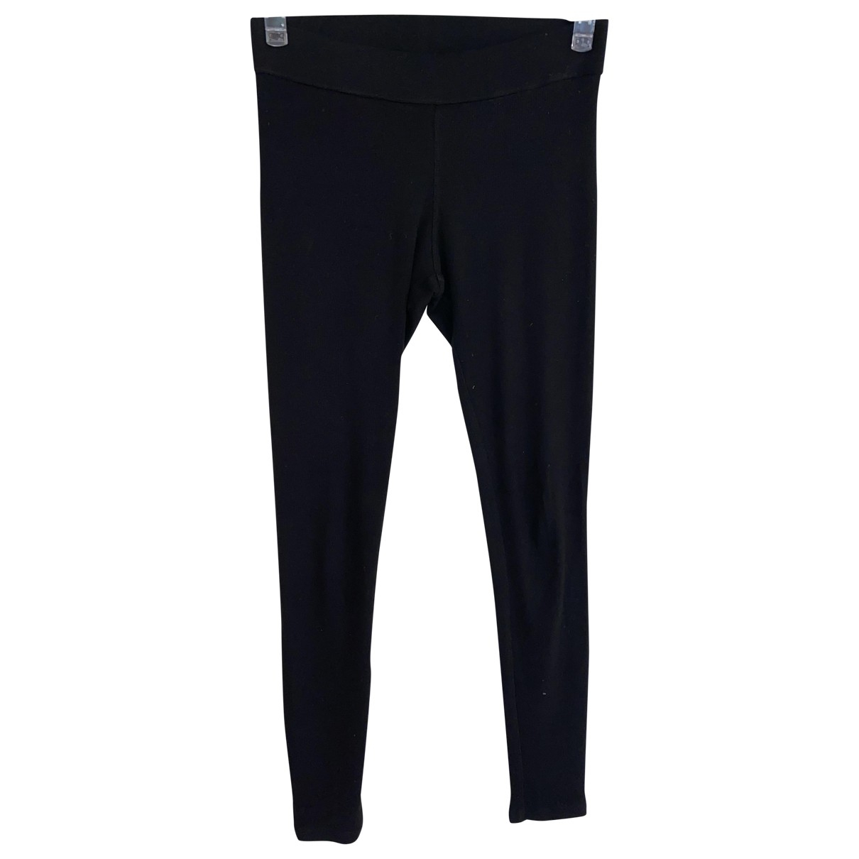 James Perse \N Black Cotton Trousers for Women 1 0-5