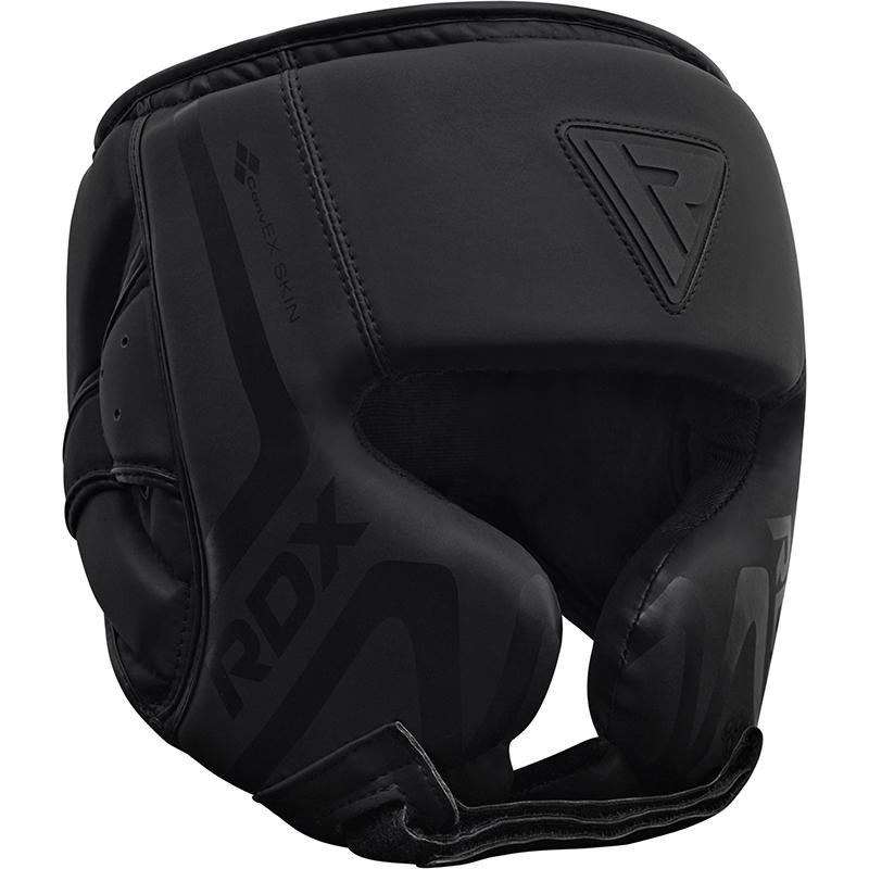 RDX T15 Noir Casque De Boxe Moyenne Cuir PU