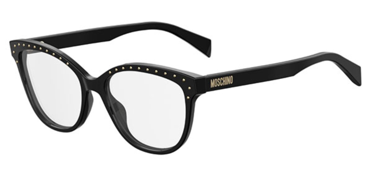 Moschino MOS506 807 Women's Glasses Black Size 53 - Free Lenses - HSA/FSA Insurance - Blue Light Block Available