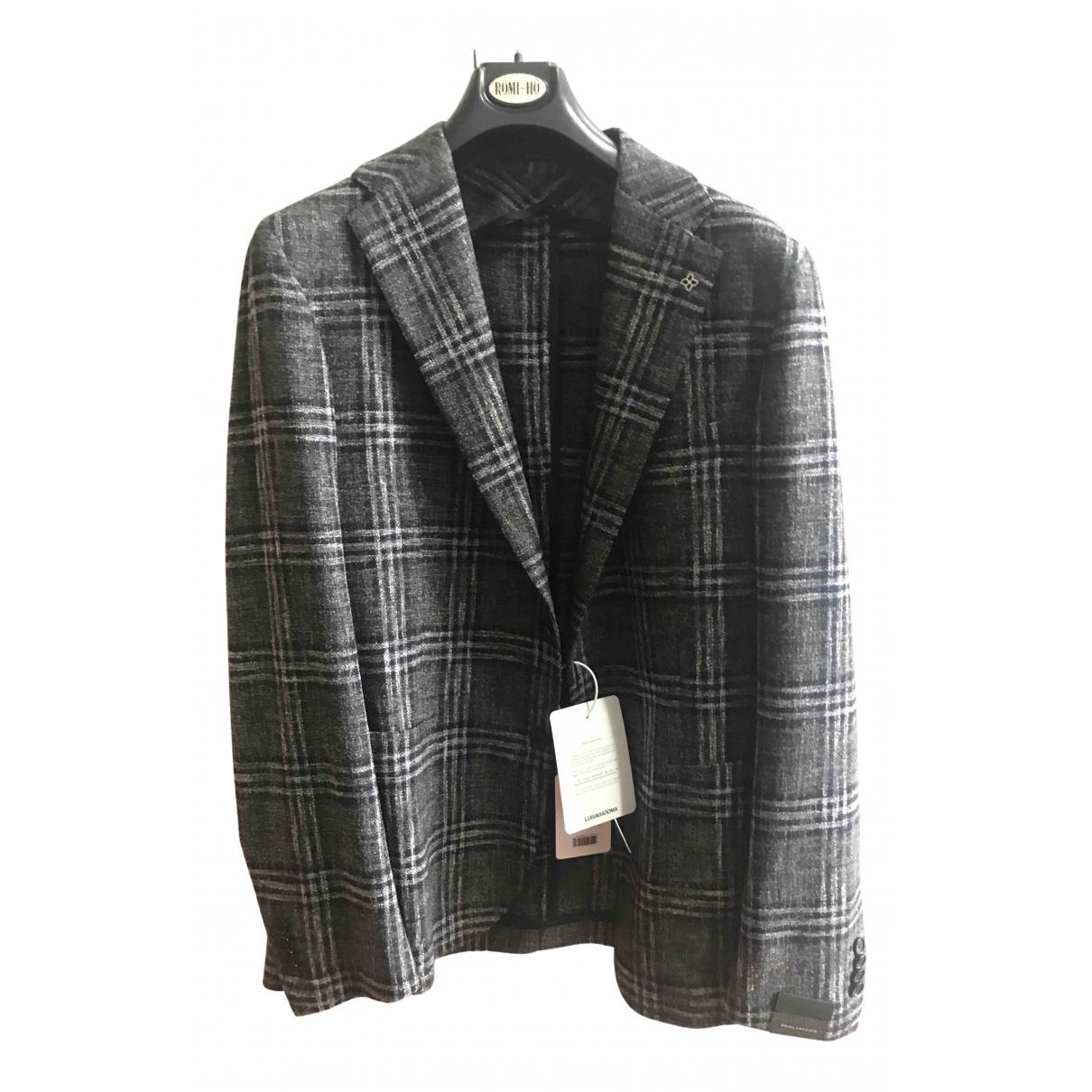 Tagliatore \N Jacke in  Grau Wolle