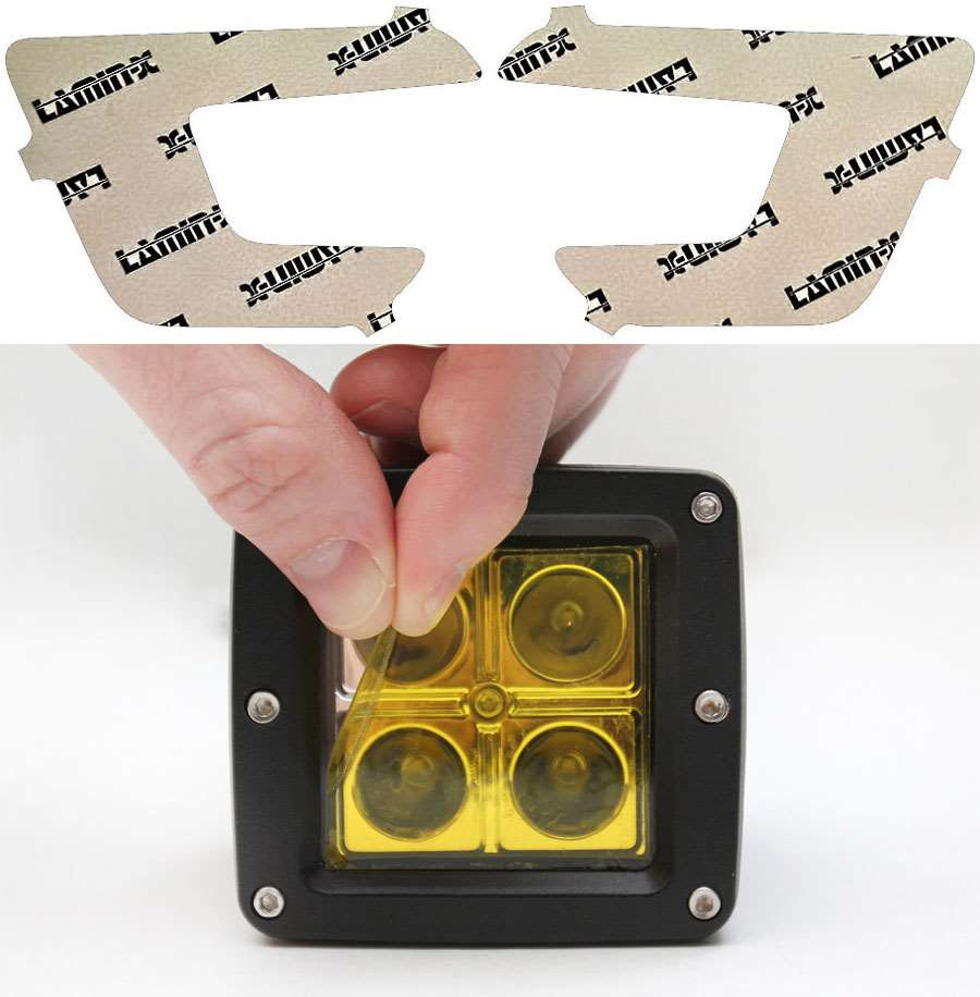 Ford Explorer 16-19 Yellow Fog Light Covers Lamin-X F156Y