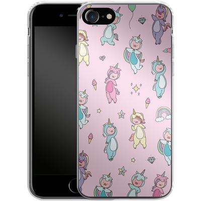 Apple iPhone 7 Silikon Handyhuelle - Piggy Unicorns von Chan-chan
