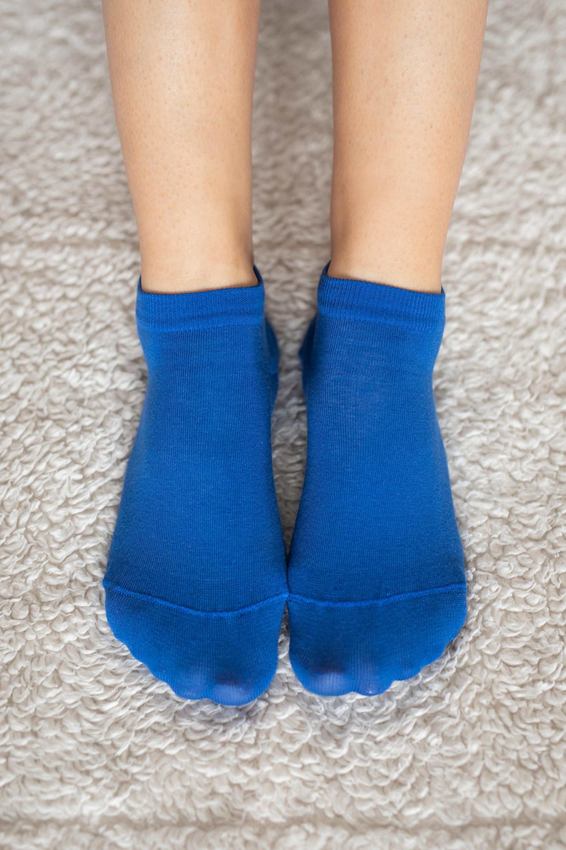 Barfuss-Socken - niedrege - blau 39-42