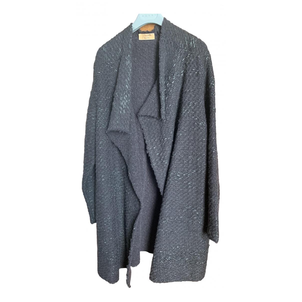 - Manteau   pour femme en laine - anthracite