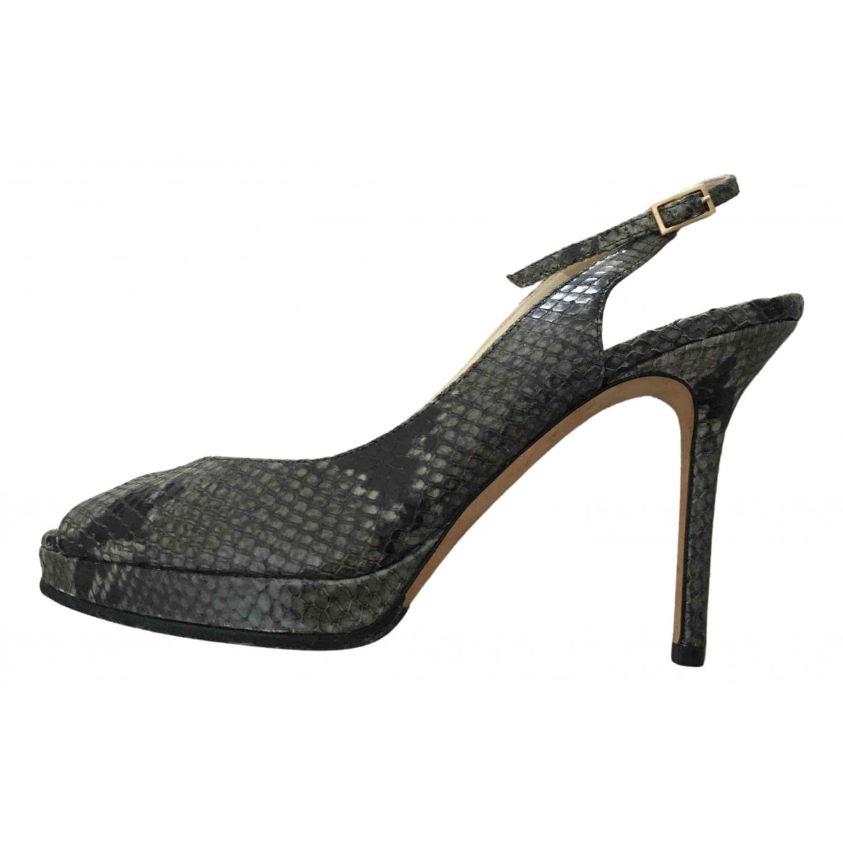 Jimmy Choo N Grey Water snake Heels for Women 38 EU