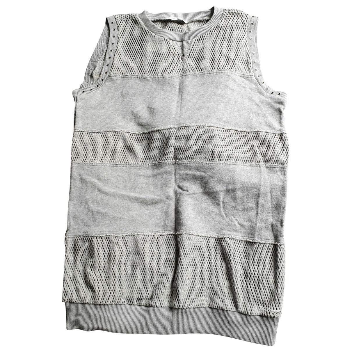 Diesel - Top   pour femme en coton - gris