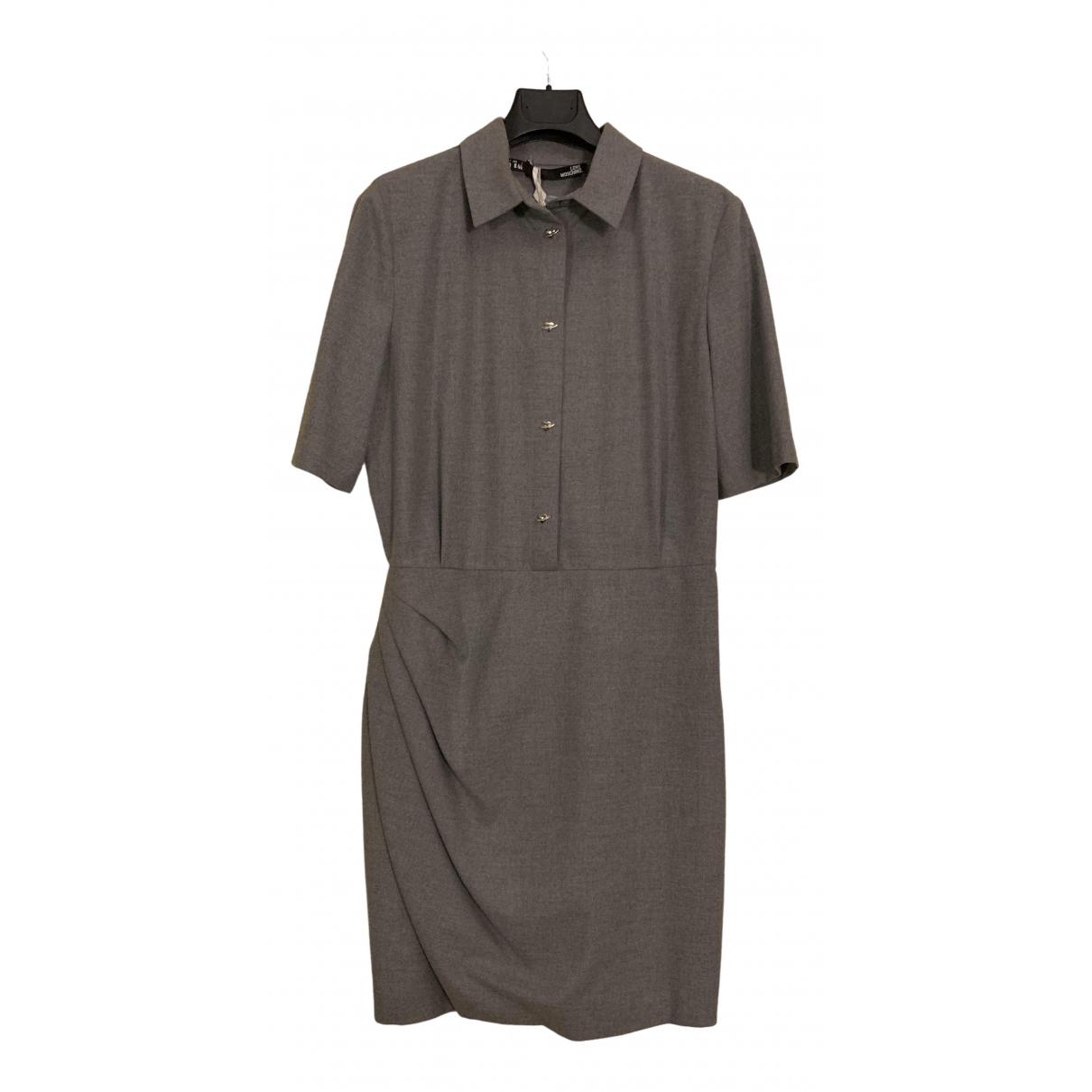 Moschino Love \N Kleid in  Grau Viskose