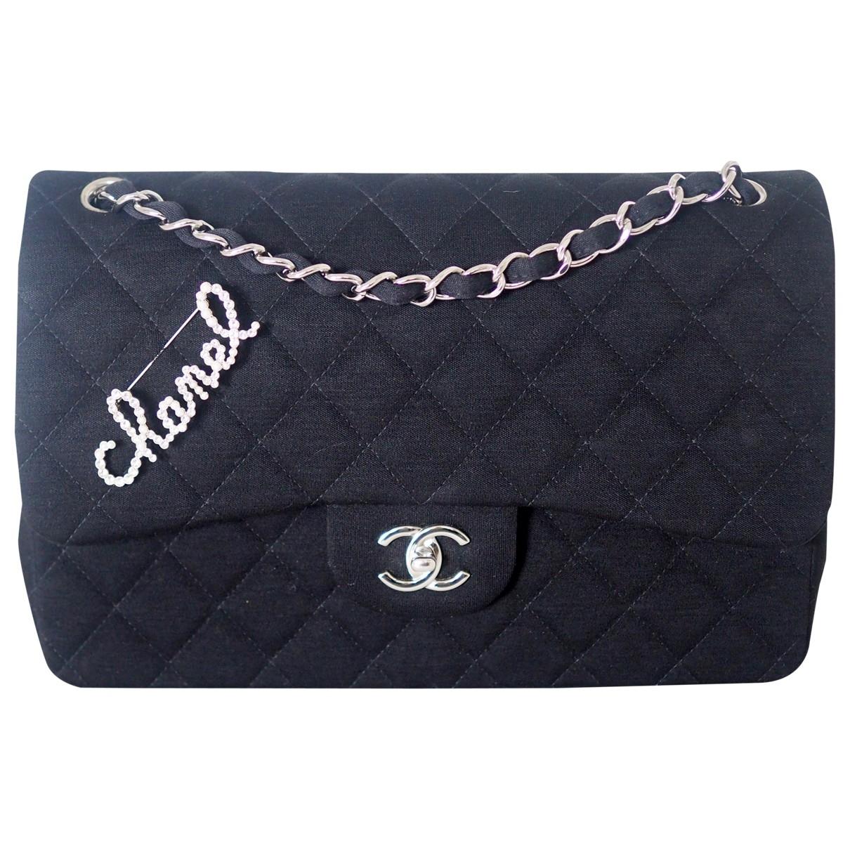 Chanel Timeless/Classique Black Cloth handbag for Women \N