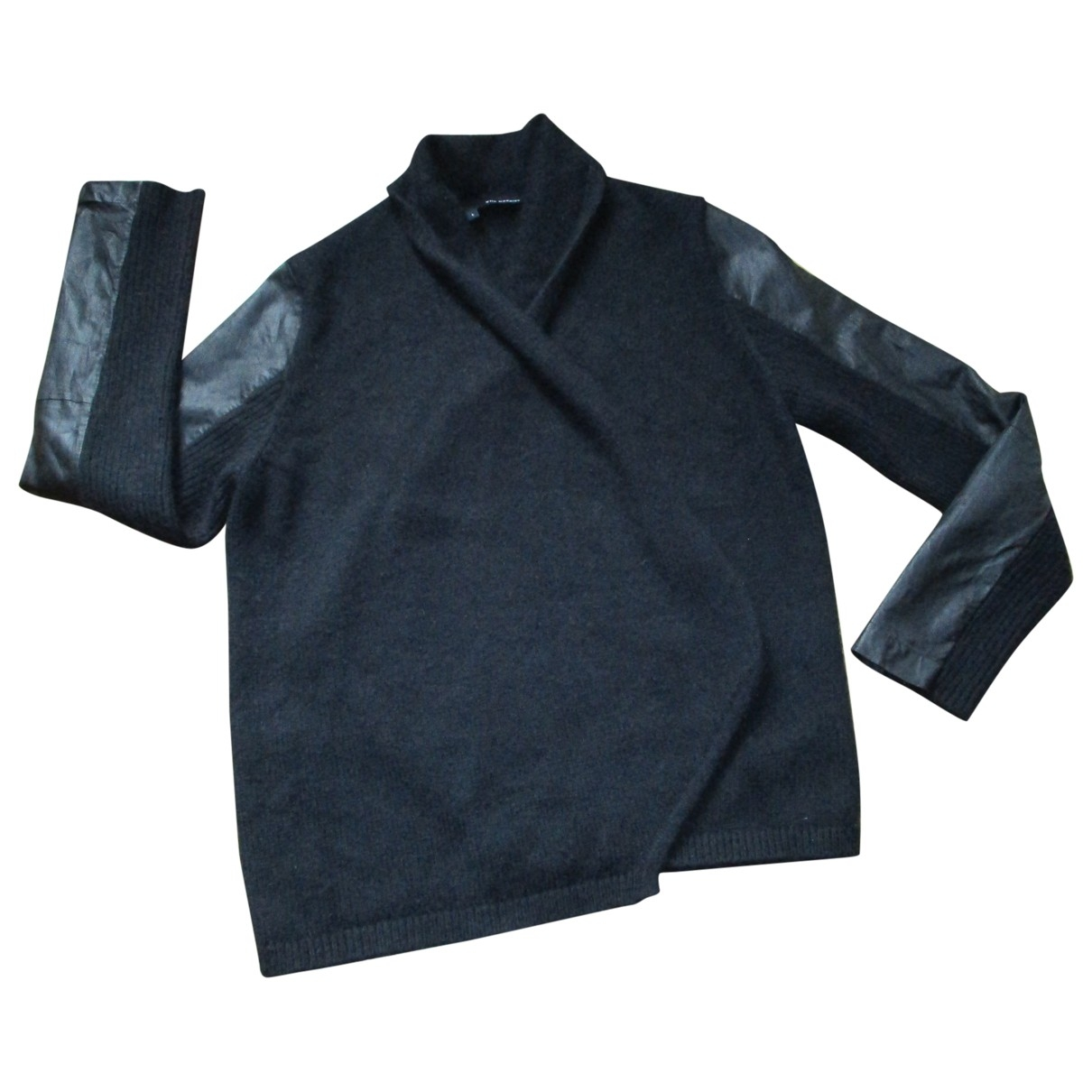 The Kooples \N Pullover in  Schwarz Synthetik