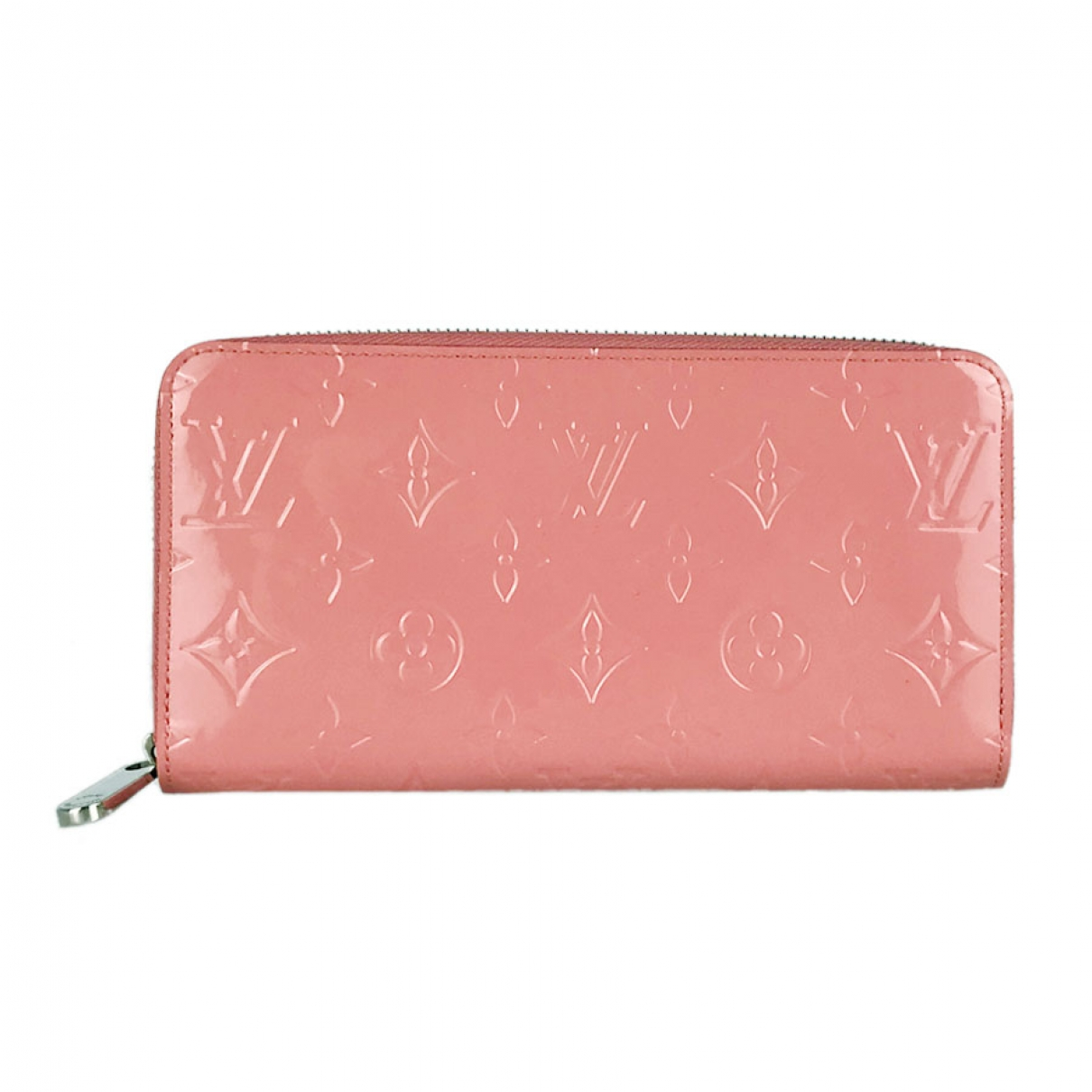 Louis Vuitton Zippy Portemonnaie in  Rosa Lackleder