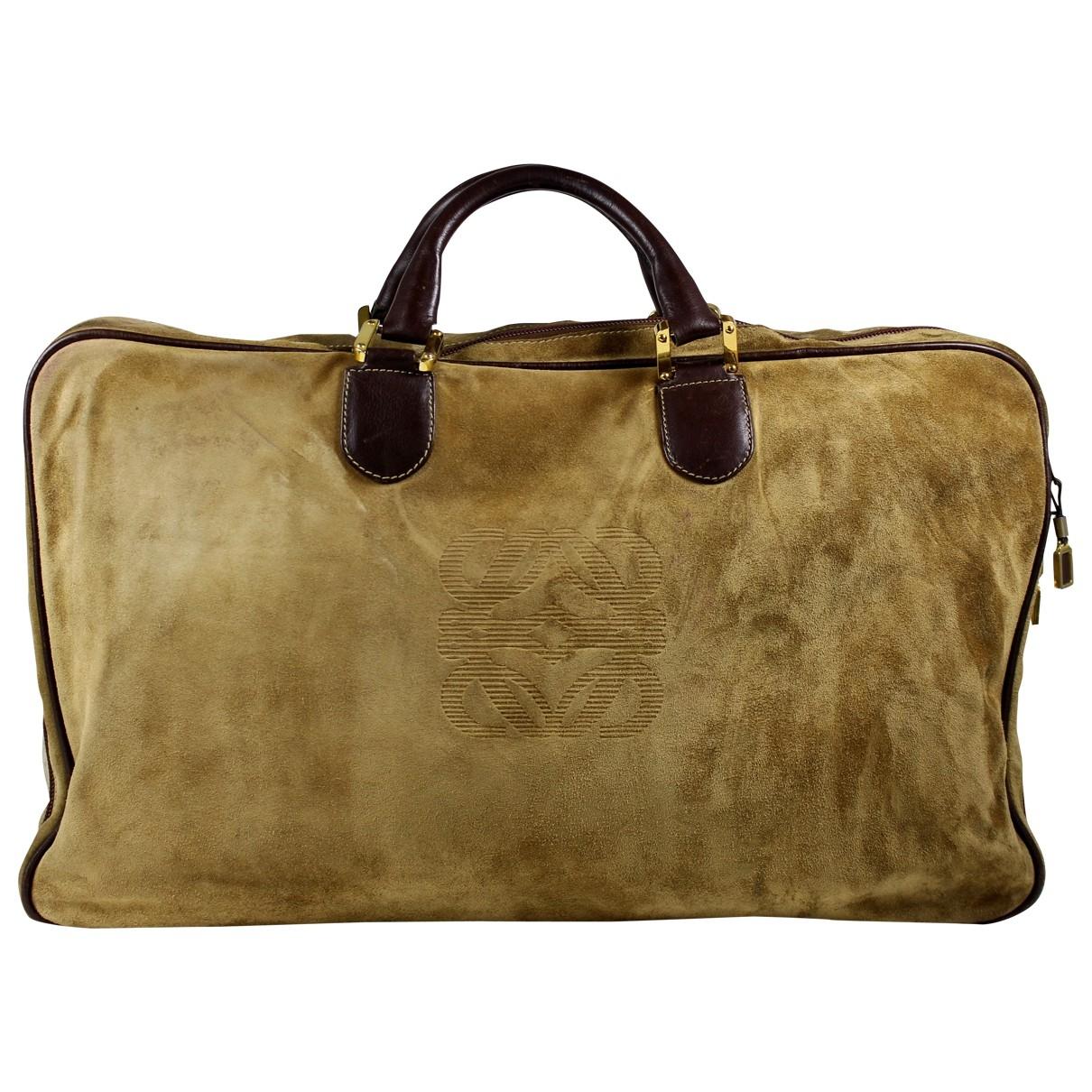 Loewe Amazona Beige Suede Travel bag for Women \N