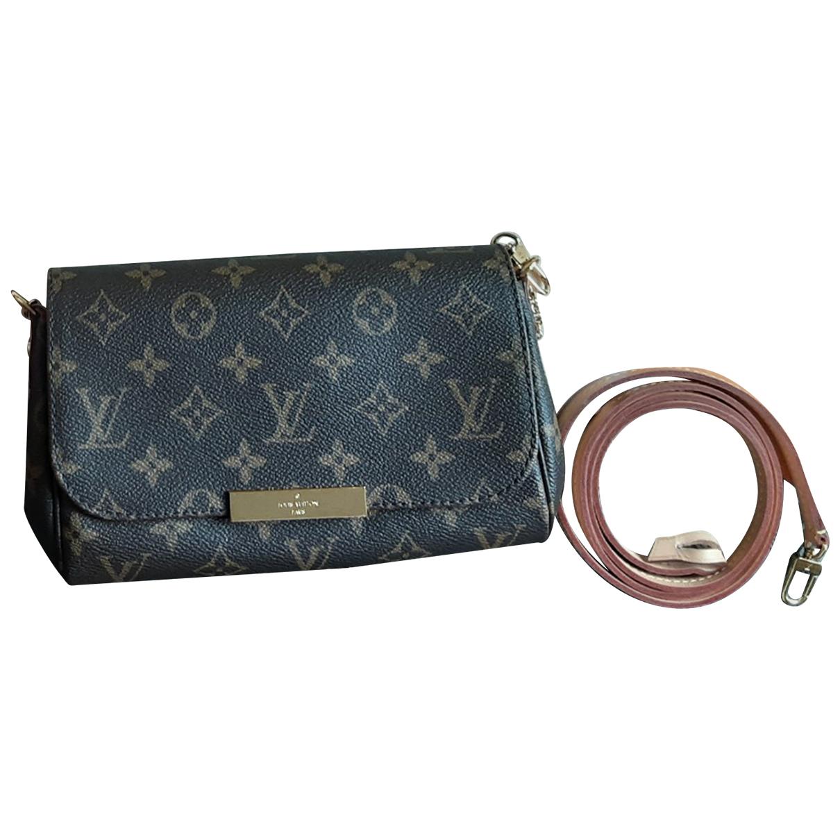 Louis Vuitton - Sac a main Favorite pour femme en toile - marron