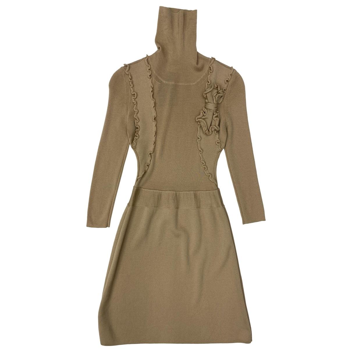 Red Valentino Garavani \N Kleid in  Beige Wolle