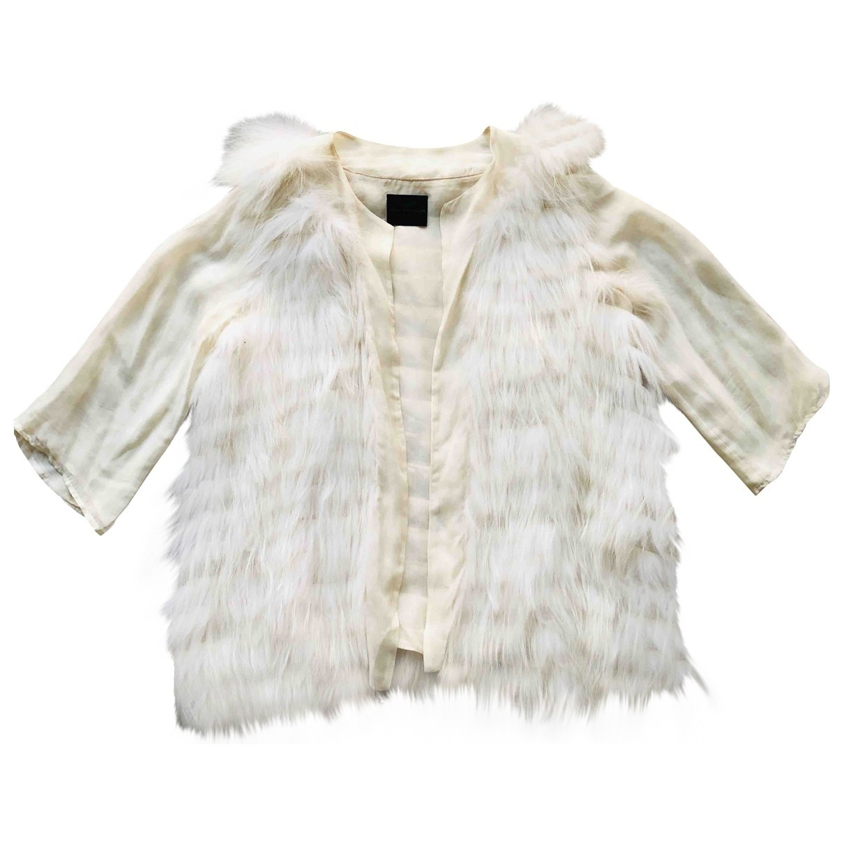 Hôtel Particulier \N Beige Raccoon jacket for Women 36 FR