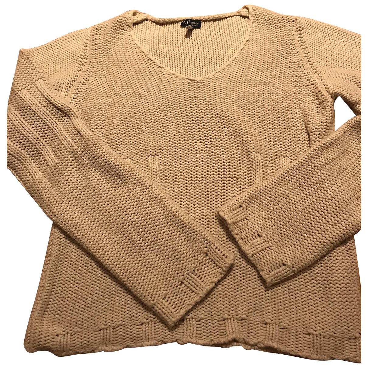 Armani Jean - Pull   pour femme en coton - beige