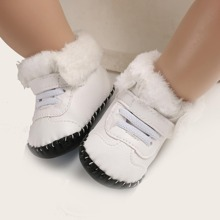 Baby Boy Fur Lined Velcro Strap Boots