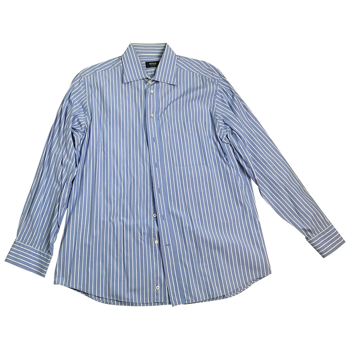 Boss \N Hemden in  Blau Baumwolle