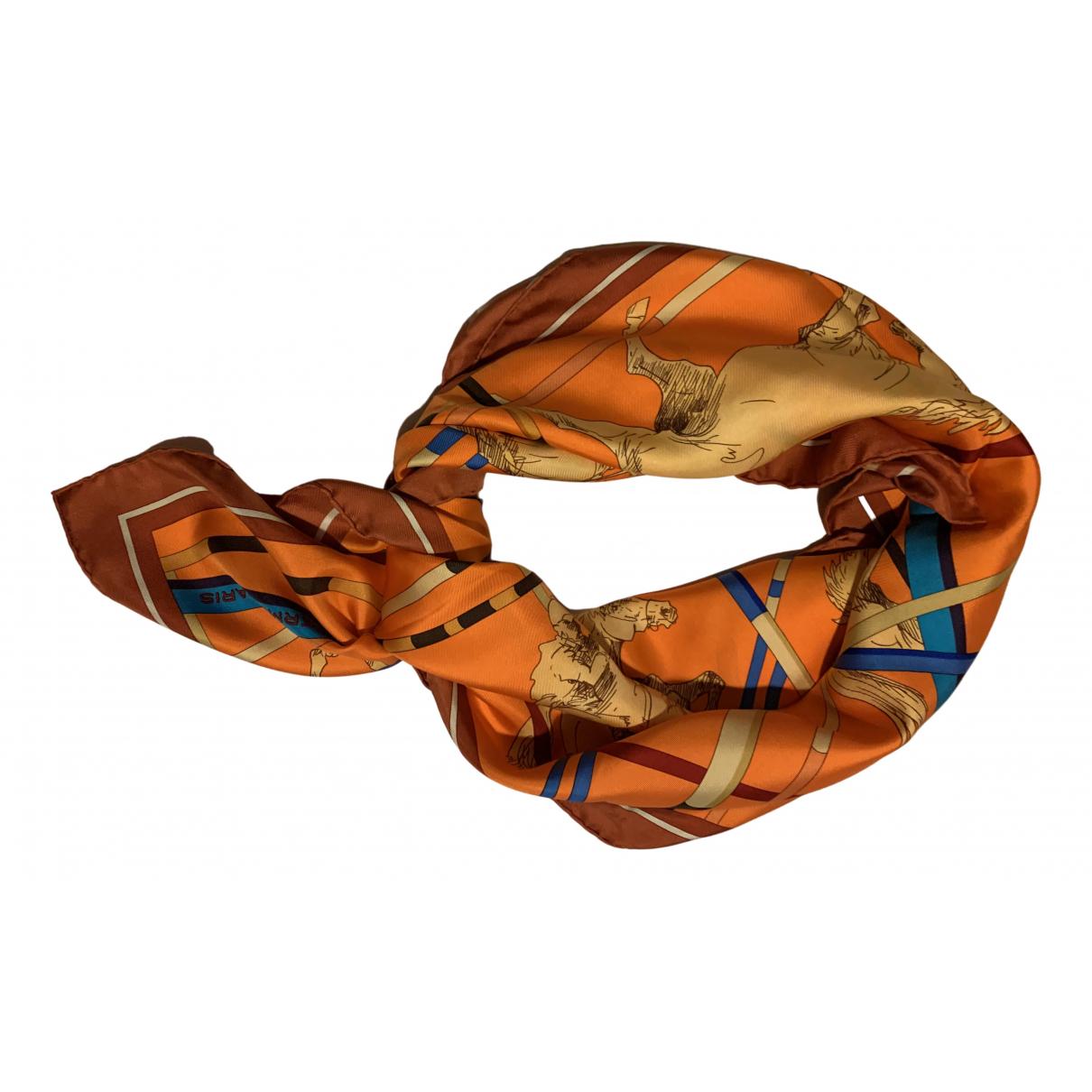 Hermès Carré 90 Orange Silk Silk handkerchief for Women N