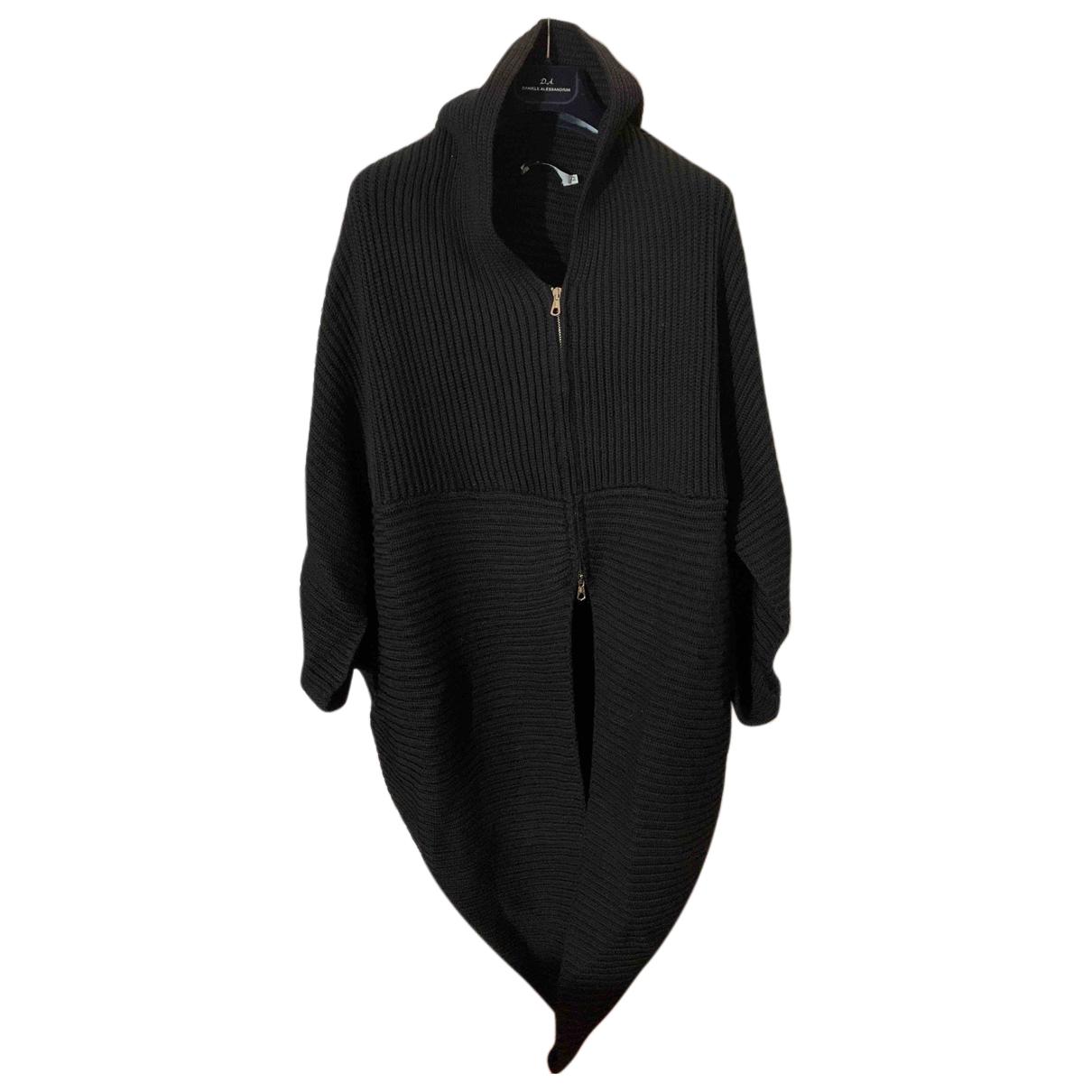 - Pull   pour femme en laine - noir