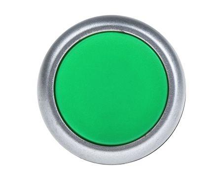 RS PRO Non-illuminated Green Flush Push Button Complete Unit, 1RT, 22mm Momentary Screw