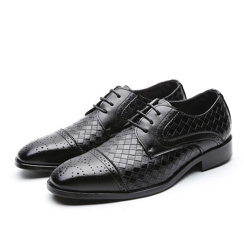 Ericdress Low-Cut Upper Square Toe Men's Dress Shoes