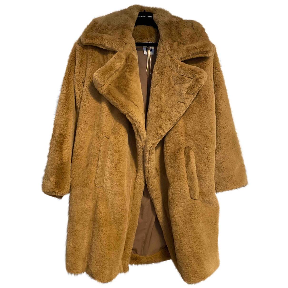 Jijil - Manteau   pour femme en fourrure synthetique - beige