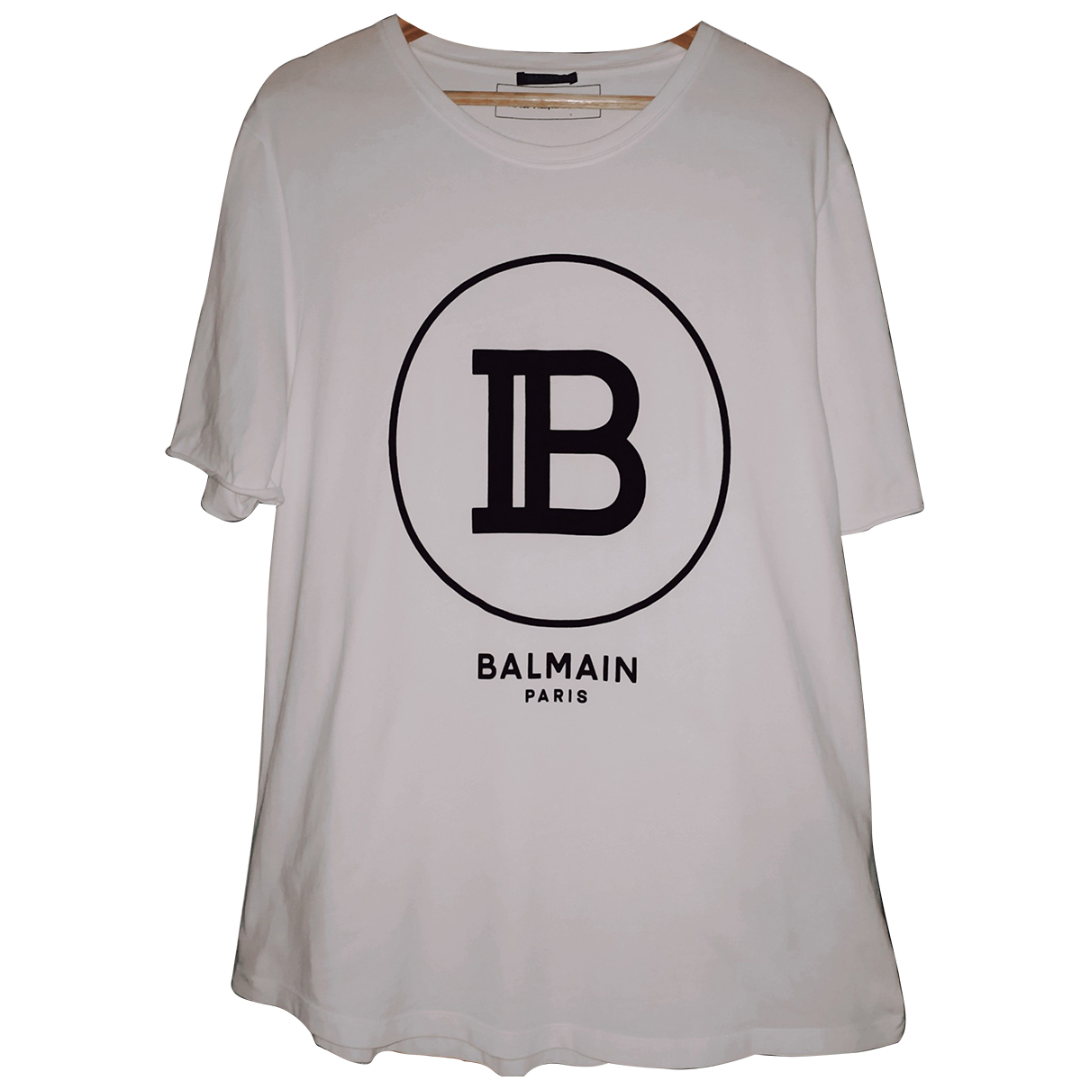 Balmain N White Cotton T-shirts for Men XXL International