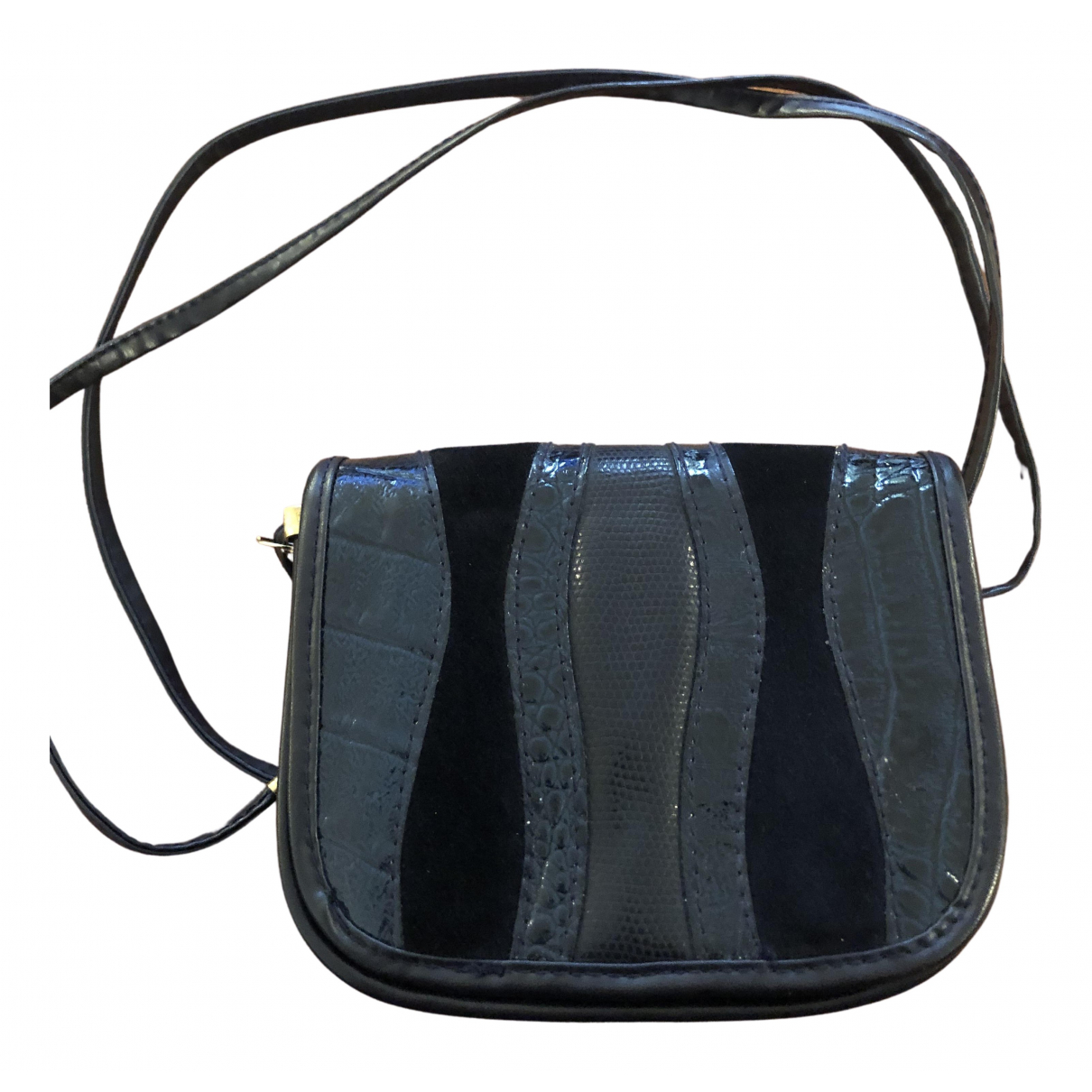 Non Signé / Unsigned N Blue Leather handbag for Women N