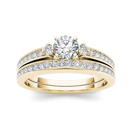 1 CT. T.W. Diamond 14K Yellow Gold Bridal Set, 6 , No Color Family
