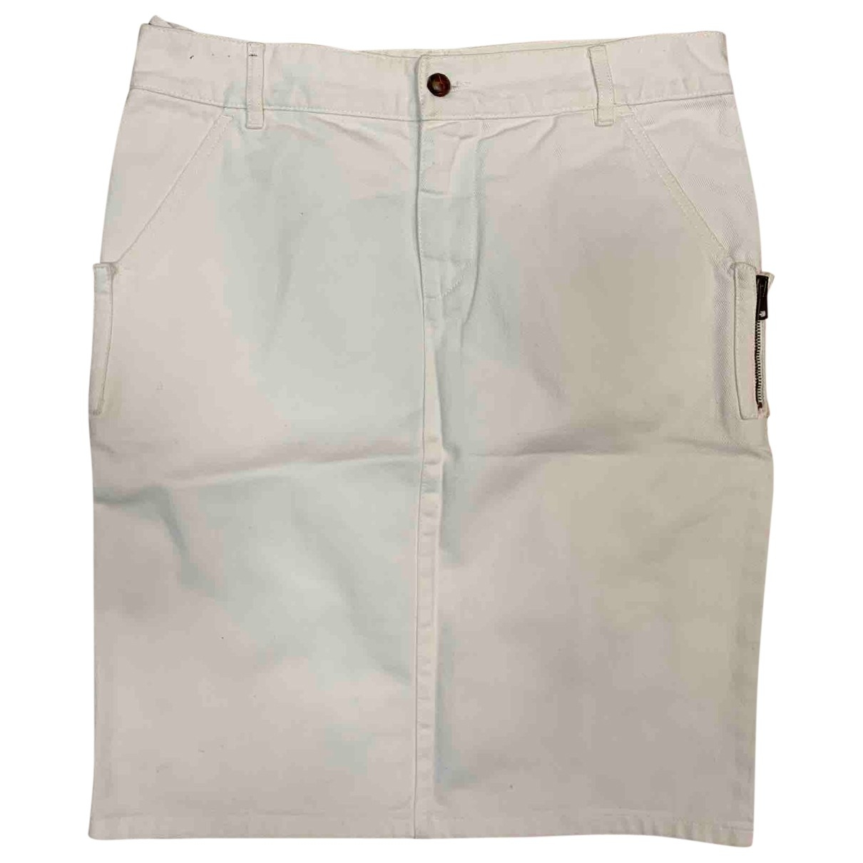 Gucci \N White Cotton skirt for Women 44 IT
