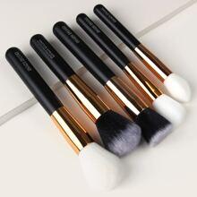 5 piezas set cepillo de maquillaje suave