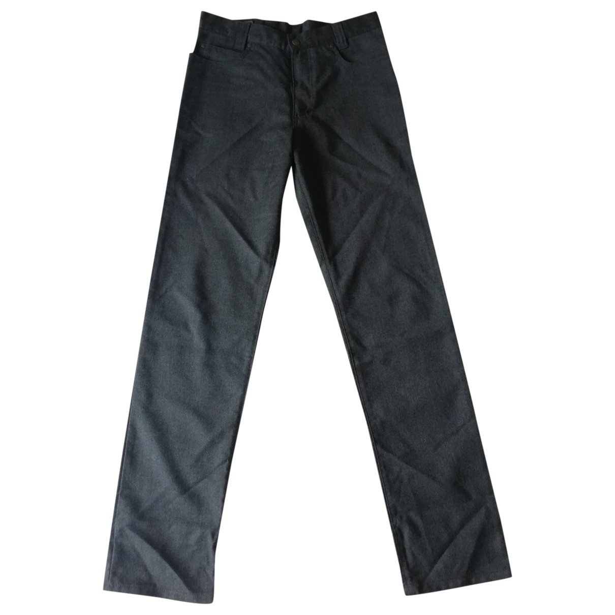 Versace N Anthracite Wool Trousers for Men 30 UK - US