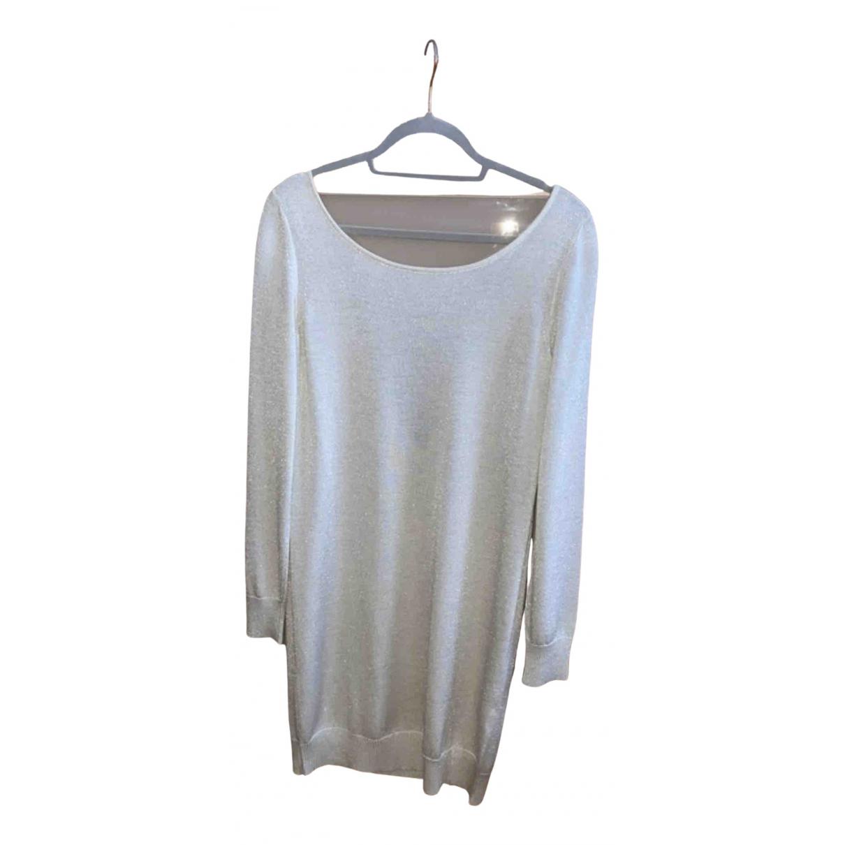 Dolce & Gabbana \N Kleid in  Weiss Wolle