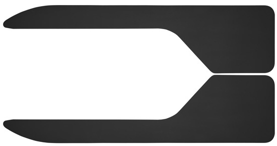 Husky Liners 17048 Buick/Chevy/Cadillac/Ford Long John Flare Flaps 12 Inch Wide 36 Inch Length Black