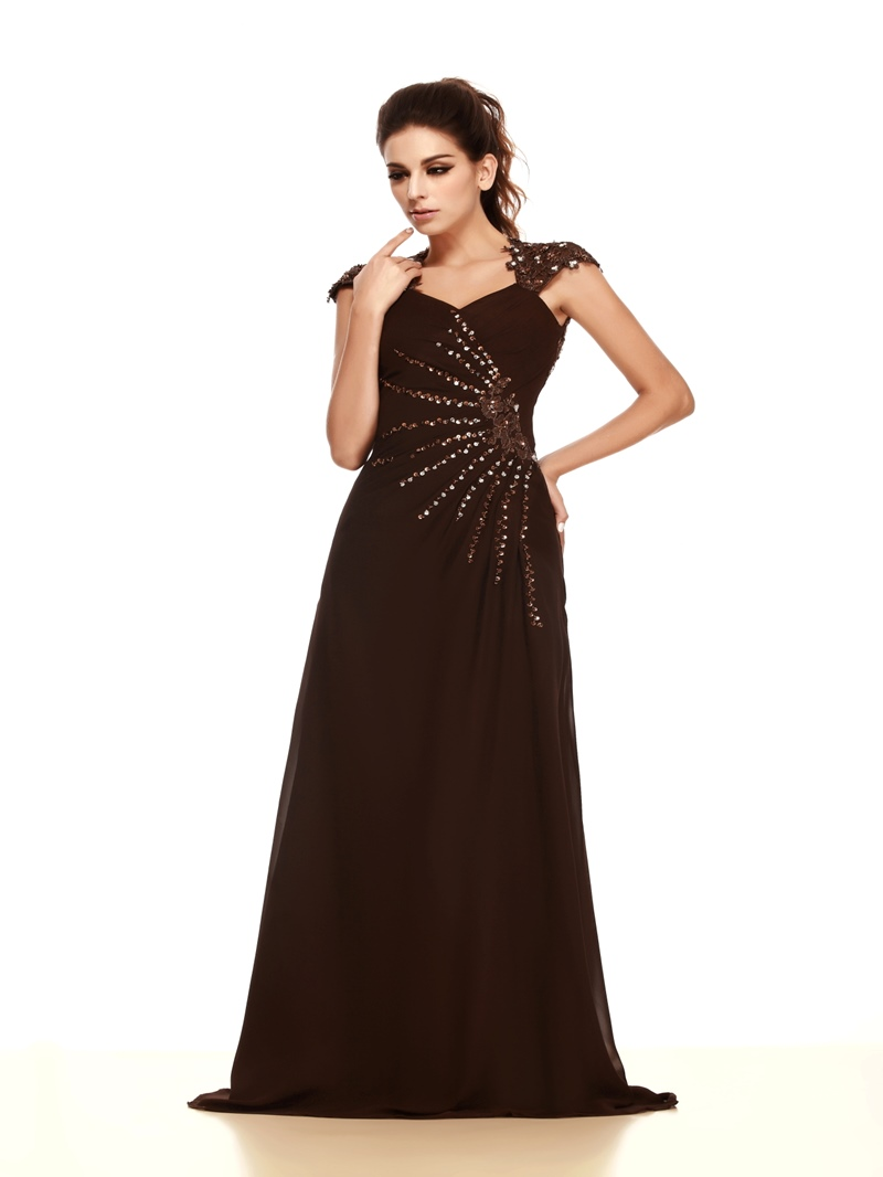 Gorgeous Lace Beading/Sequins A-Line Straps Neckline Floor-Length Talines Mother of the Bride Dress
