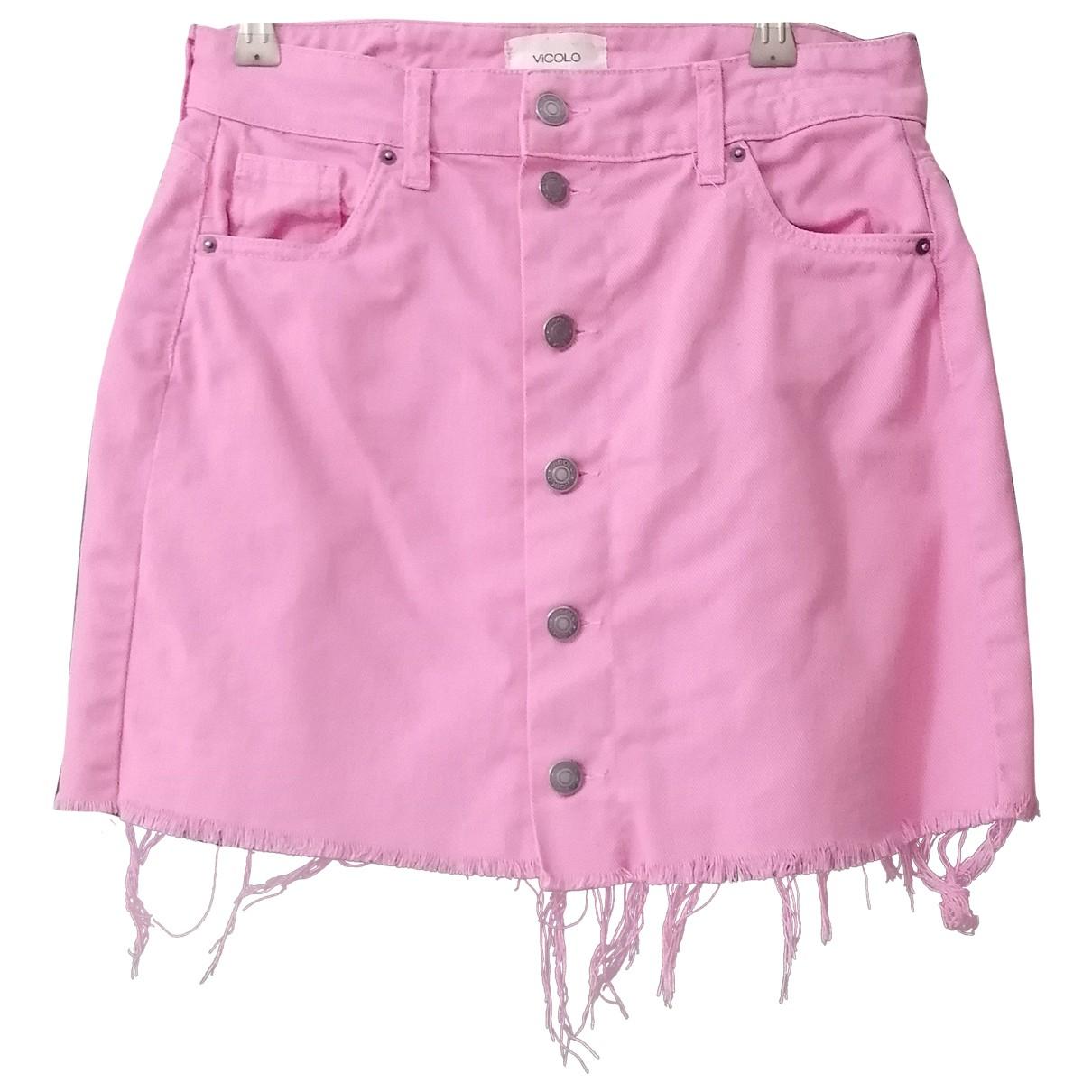 Vicolo - Jupe   pour femme en coton - rose