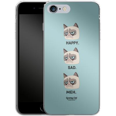 Apple iPhone 6s Plus Silikon Handyhuelle - Facial Expressions von Grumpy Cat