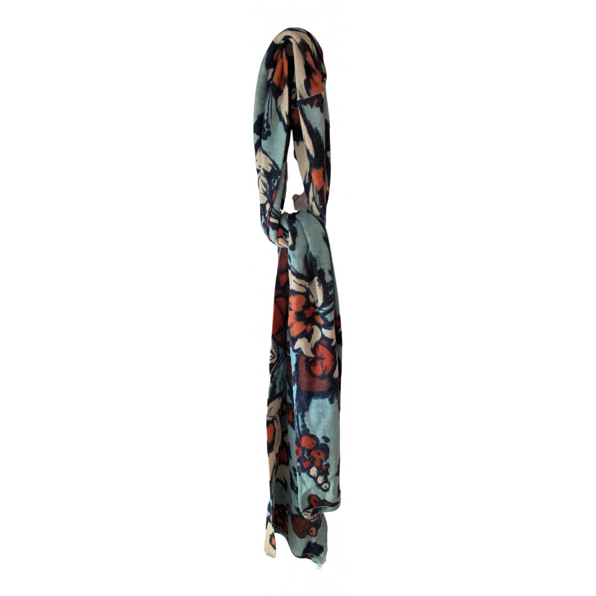 Kenzo - Foulard   pour femme en cachemire - multicolore