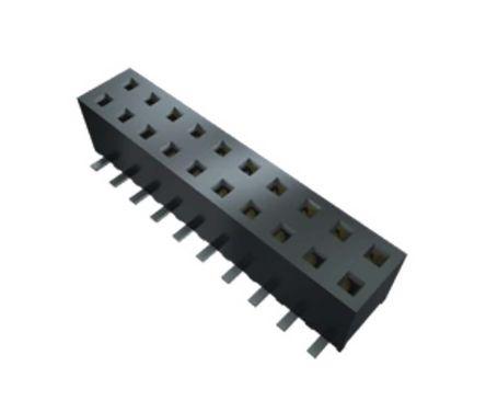 Samtec , MMS 2mm Pitch 7 Way 1 Row Straight PCB Socket, Through Hole, Solder Termination (40)