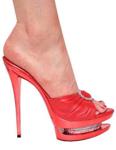 Milanoo Zapatillas rojas de charol con plataforma de estilo sexy