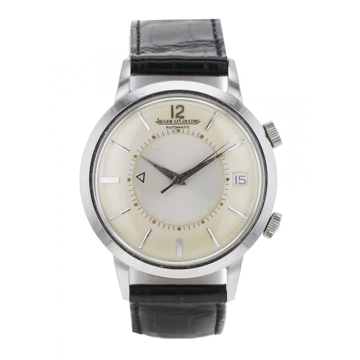 Jaeger-lecoultre Memovox Black Steel watch for Men \N