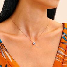 Rhinestone Charm Necklace 1pc