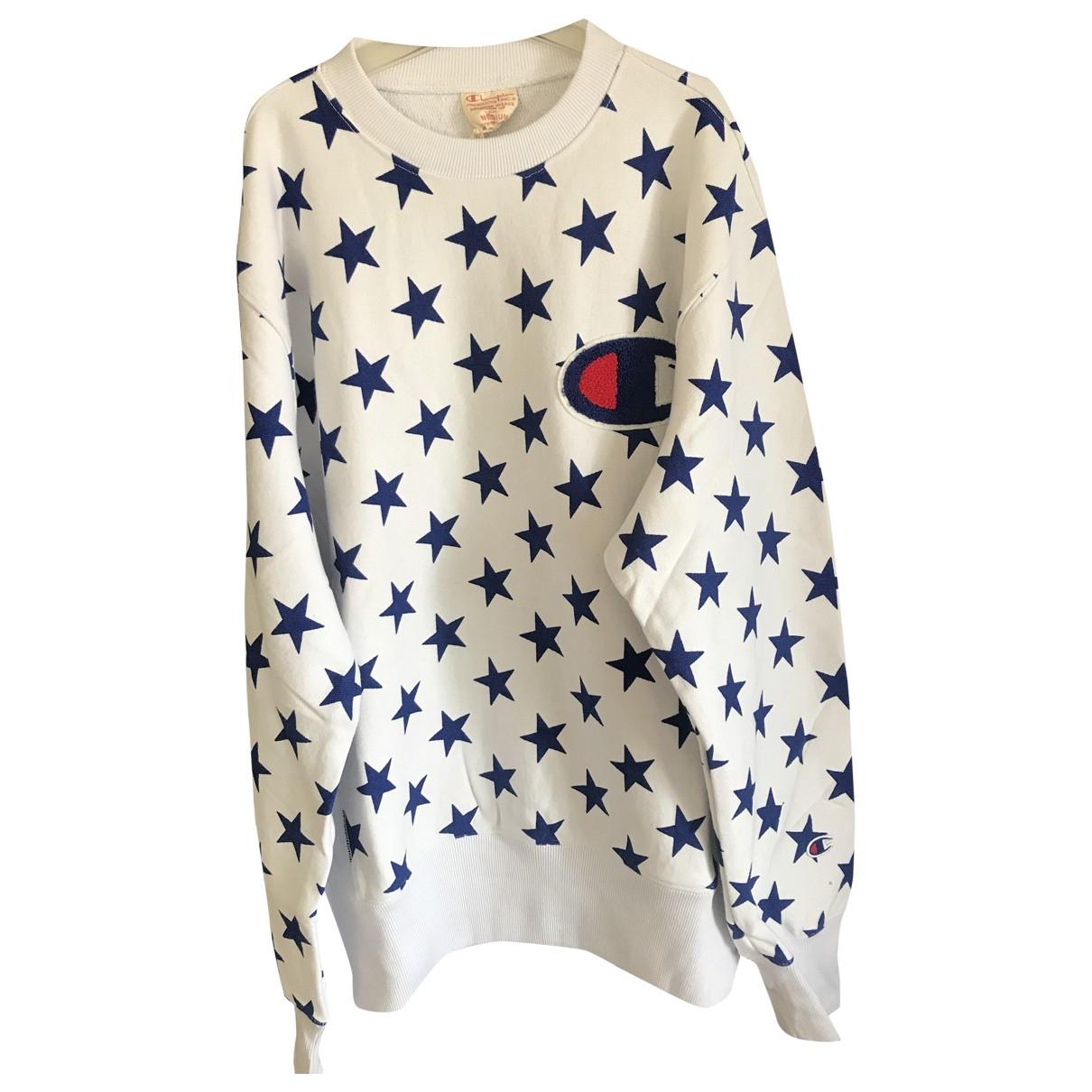Champion \N Pullover.Westen.Sweatshirts  in  Weiss Baumwolle