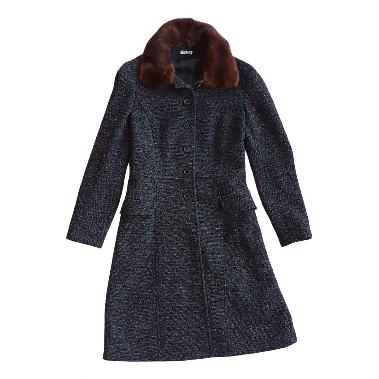 Miu Miu - Manteau   pour femme en laine - multicolore