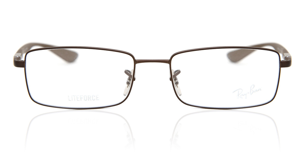 Ray-Ban RX6286 Liteforce 2758 Mens Glasses Brown Size 52 - HSA/FSA Insurance - Blue Light Block Available