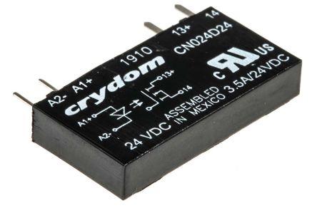 Sensata / Crydom 3.5 A Solid State Relay, Zero Cross, PCB Mount, 24 V dc Maximum Load