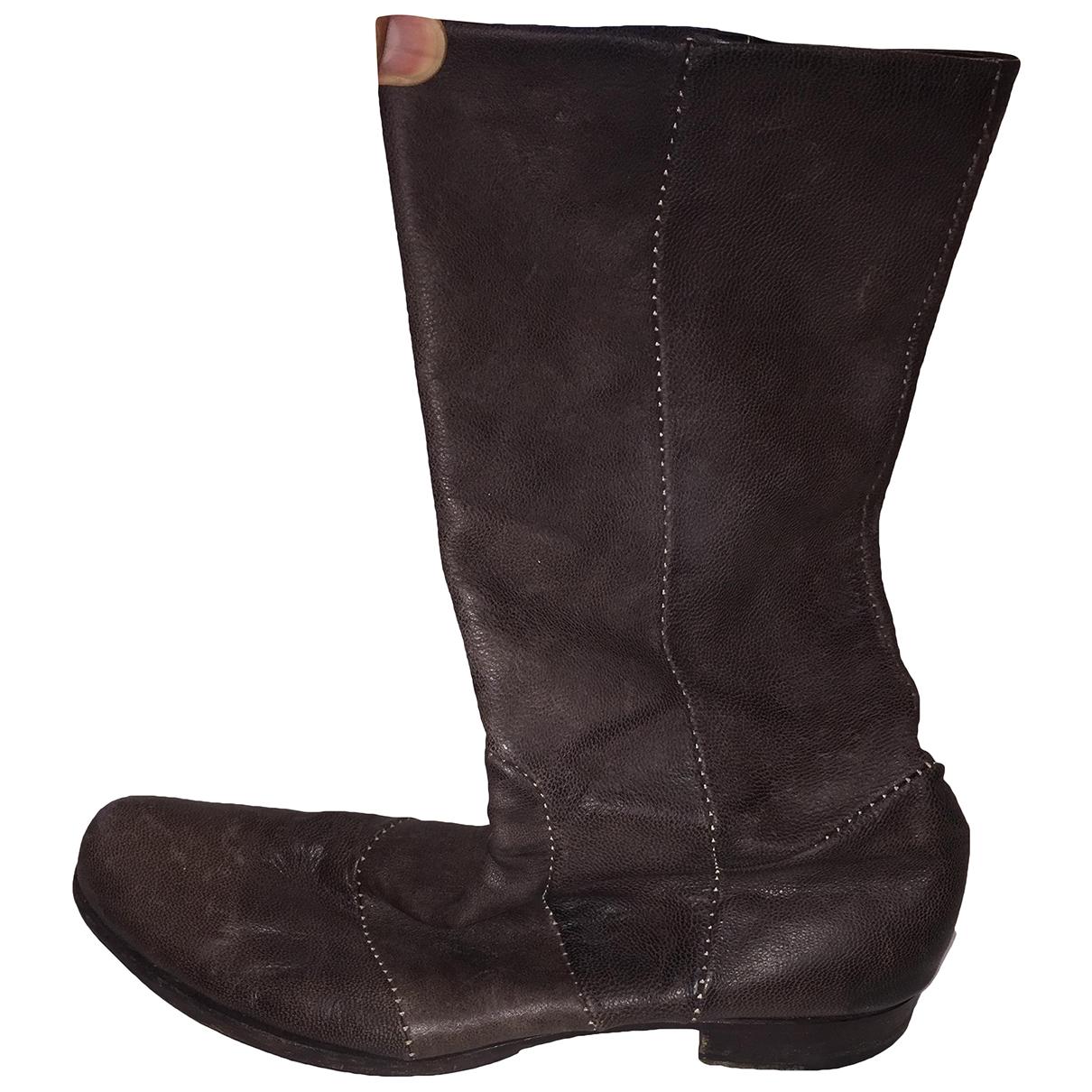 - Bottes.Boots   pour homme en cuir - marron