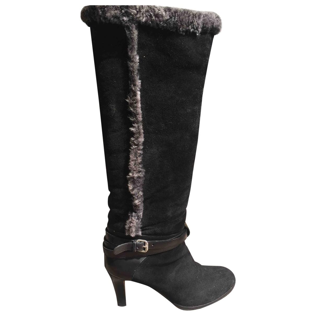 - Bottes   pour femme en mouton - noir