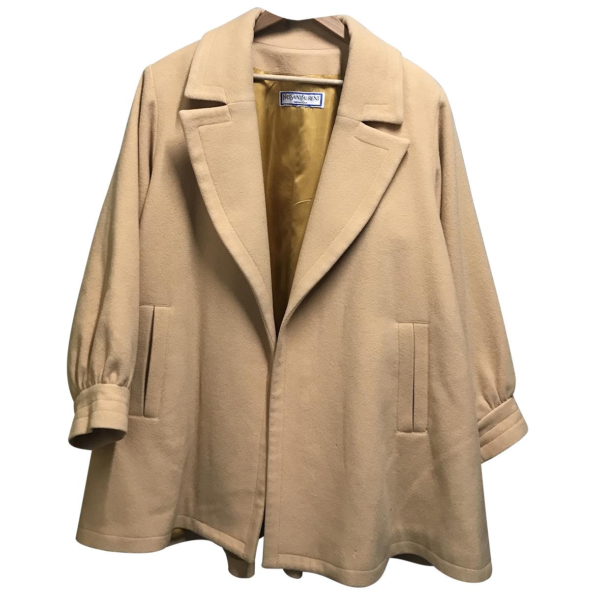 Yves Saint Laurent \N Ecru Wool coat for Women One Size FR