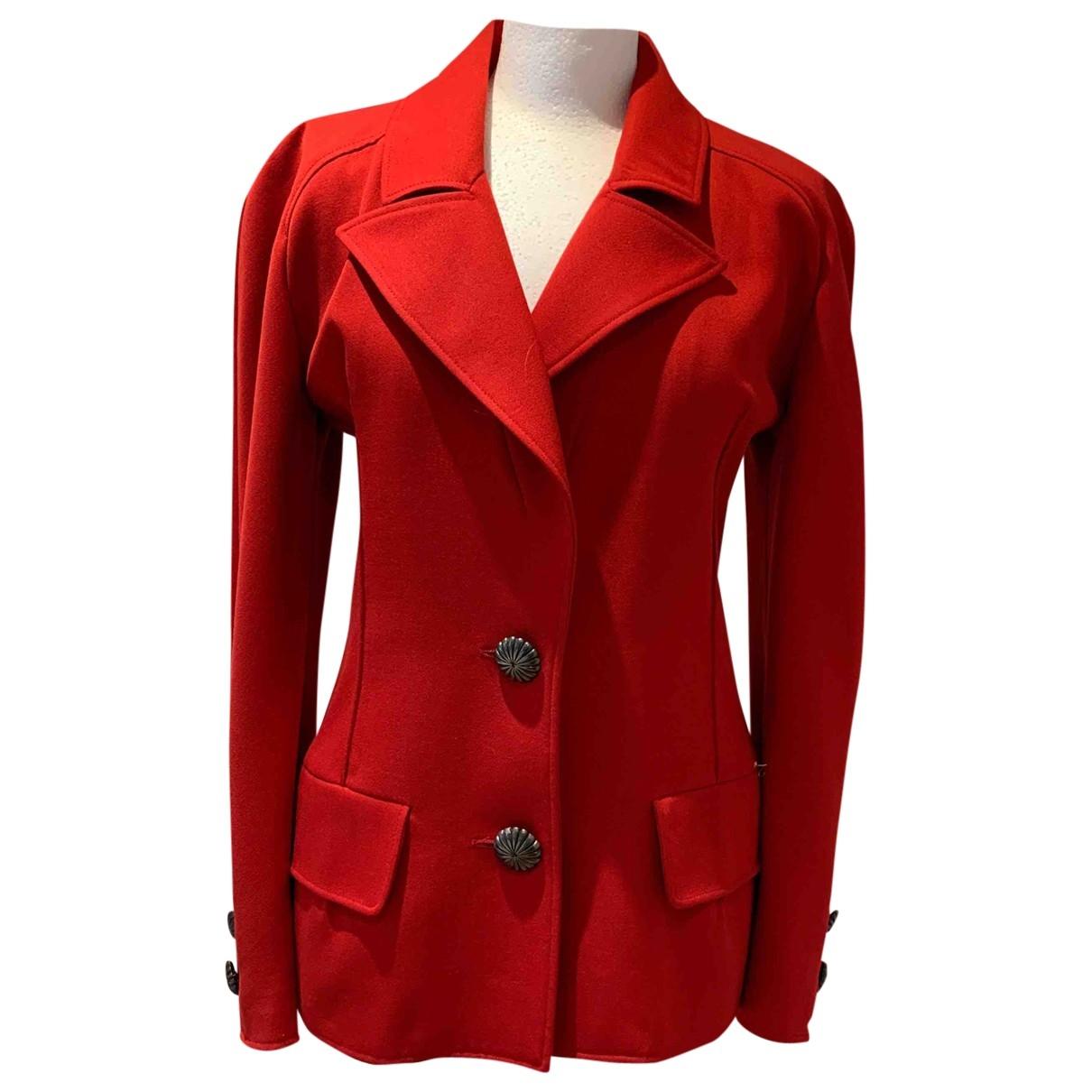 Valentino Garavani \N Jacke in  Rot Wolle